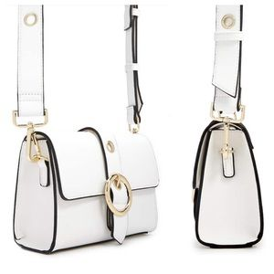 NWT Forever 21 White Faux Leather Crossbody